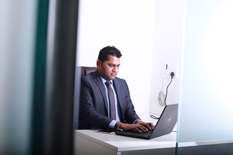 CEO at work
